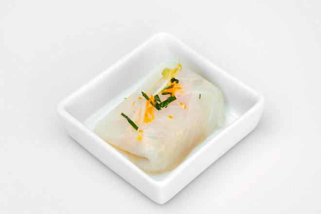 Fals ravioli de bacallà amb salsa tàrtara